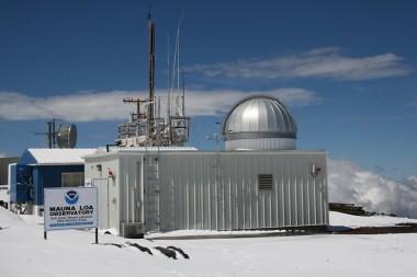 Mona Loa Observatory After Snowstorm
