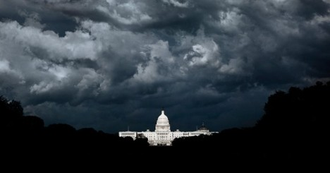 US CAPITOL BLACK STORM CLOUDS